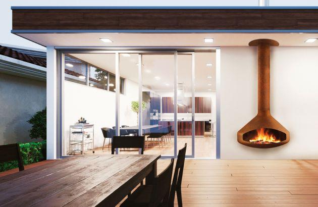 cheminée design Paxfocus outdoor
