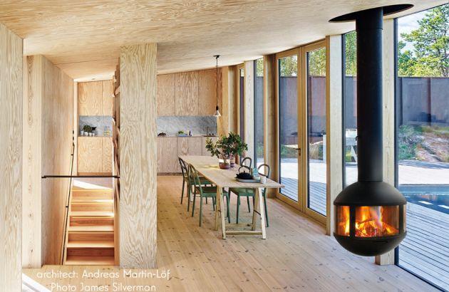 cheminée contemporaine agorafocus 630 en Suède