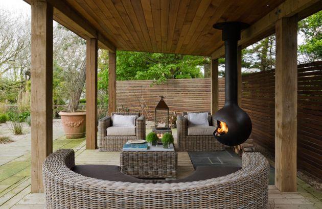 cheminée design pour l'extérieur, Bathyscafocus